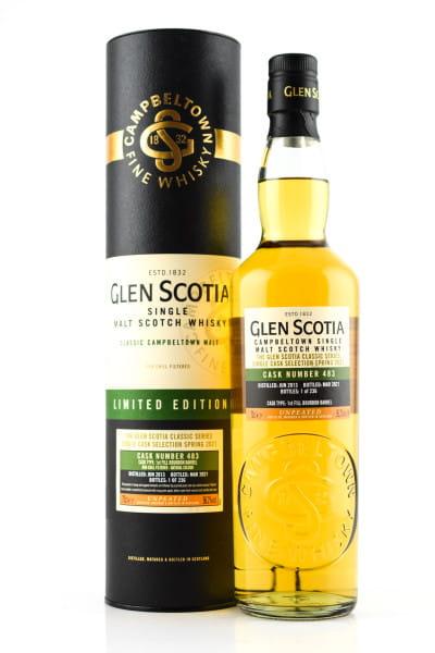 Glen Scotia 2013/2021 1st Fill Bourbon Barrel #483 56,2%vol. 0,7l