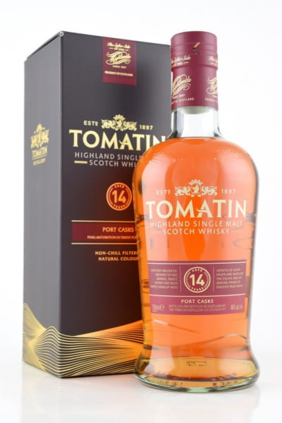 Tomatin 14 Jahre Port Wood Finish 46%vol. 0,7l