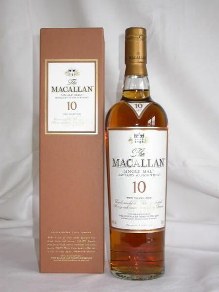 Macallan 10 Jahre Sherry-Fass 40%vol. 0,7l altes Design