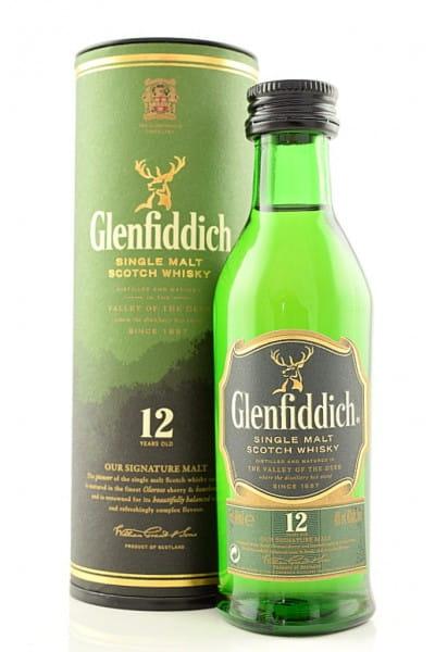 Glenfiddich 12 Jahre 40%vol. 0,05l