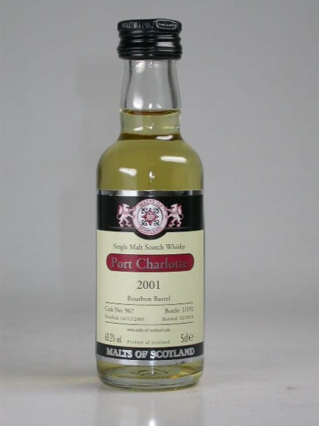 Port Charlotte 2001/2010 Bourbon Barrel Malts of Scotland 60,2%vol. 0,05l