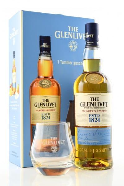 Glenlivet Founder's Reserve 40%vol. 0,7l mit Glas