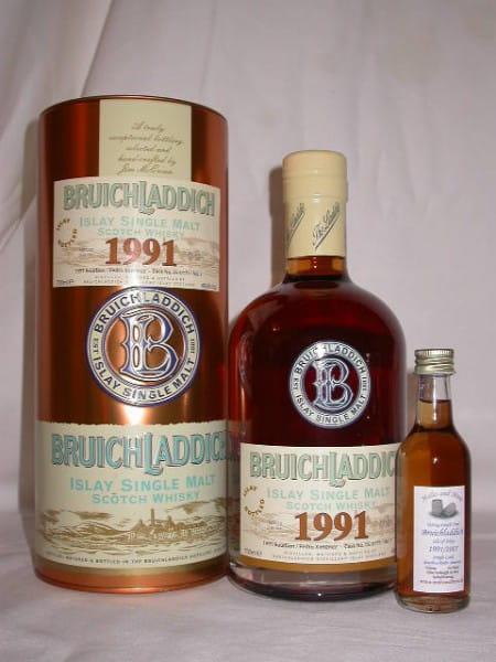 Bruichladdich 91/07 Bourbon/Pedro Ximénez Single Cask 49,4%vol.Sample0,05l