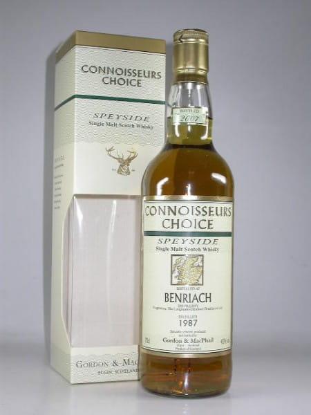 Benriach 1987/2007 Gordon & MacPhail Connoisseurs Ch. 43%vol. 0,7l