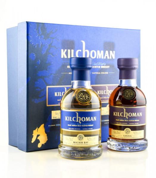 Kilchoman Machir Bay & Sanaig Geschenkpackung 46%vol. 2x 0,2l