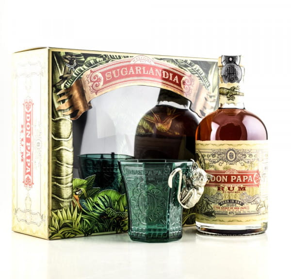 Don Papa 40%vol. 0,7l mit Glas