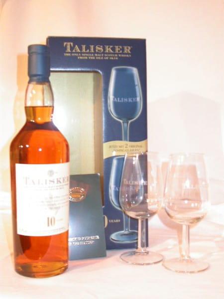 *Talisker 10 Jahre mit 2 Nosing-Gläsern 45,8%vol. 0,7l