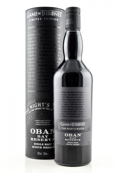 Game of Thrones The Night's Watch & Oban Bay Reserve 43%vol. 0,7l