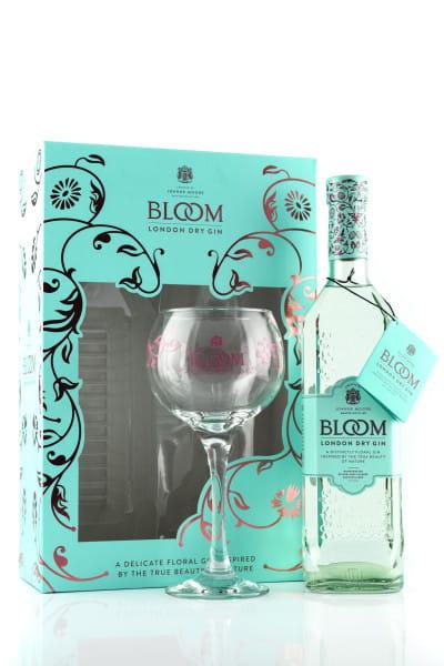 Bloom London Dry Gin 40%vol. 0,7l mit Copa-Glas