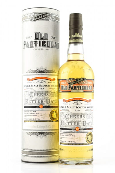 """Jura 12 Jahre """"Cheers to better Days"""" Douglas Laing """"Old Particular"""" 48,4%vol. 0,7l"""