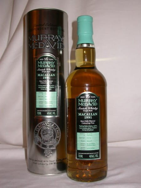 *Macallan 1991/2007 Sherry Murray McDavid 46%vol. 0,7l