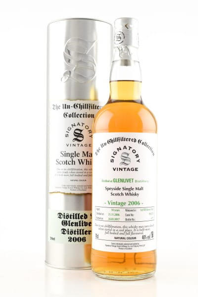 Glenlivet 10 Jahre 2007/2018 1st-fill Sherry Butt #900256 Un-Chillfiltered Signatory 46%vol. 0,7l