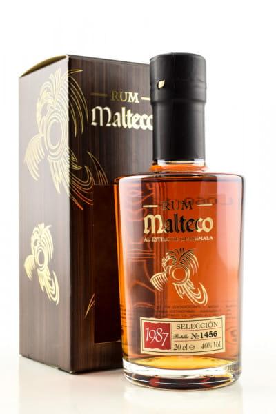 Malteco Selección 1987 40%vol. 0,2l