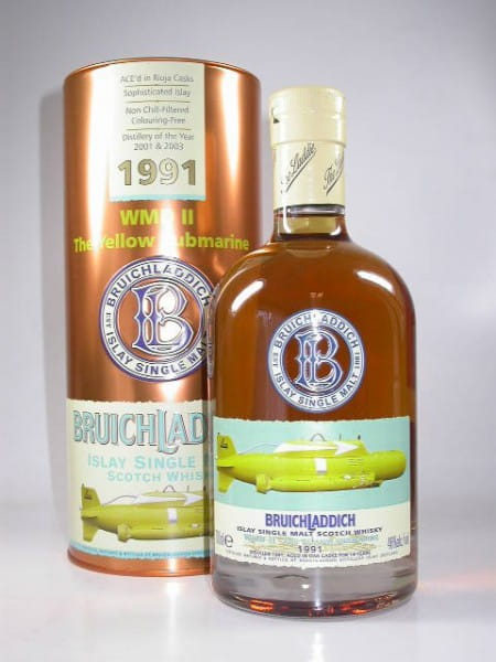 """Bruichladdich WMD II 1991/2005 """"Yellow Submarine"""" 46%vol. 0,7l"""