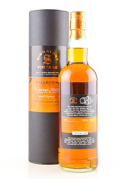 Ballechin 10 Jahre 2010/2020 Bourbon/Sherry Casks Small Batch Edition #10 Signatory 48,1%vol. 0,7l