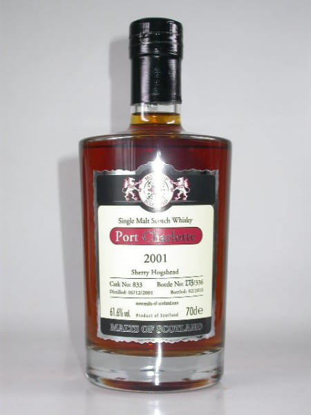 Port Charlotte 2001/2010 Sherry Hogshead Malts of Scotland 61,6%vol. 0,7l