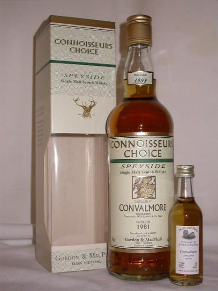 Convalmore 81/98 Gordon & MacPhail Connoisseurs Ch. 40%vol. Sample 0,05l