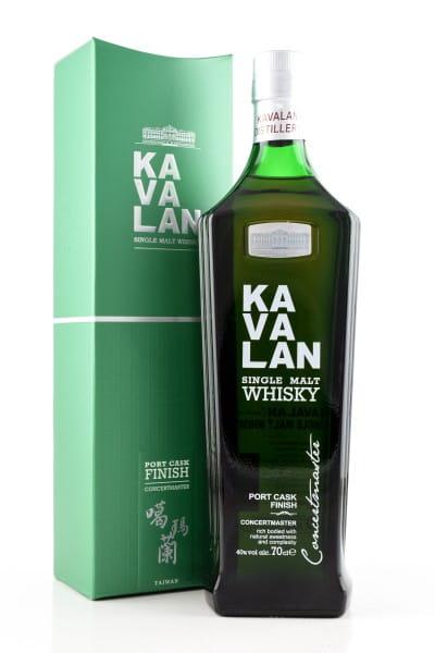 Kavalan Concertmaster Port Cask Finish 40%vol. 0,7l