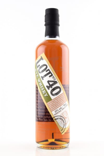 Lot No. 40 Rye Whisky 43%vol. 0,7l