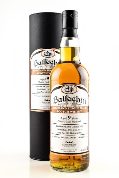 Ballechin 9 Jahre 2009/2019 Sherry Cask #340 Signatory 46%vol. 0,7l