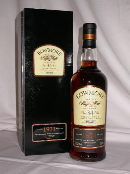 """Bowmore 34 Jahre 1971/2005 """"Flasche Nr. 42"""" 51%vol. 0,7l"""