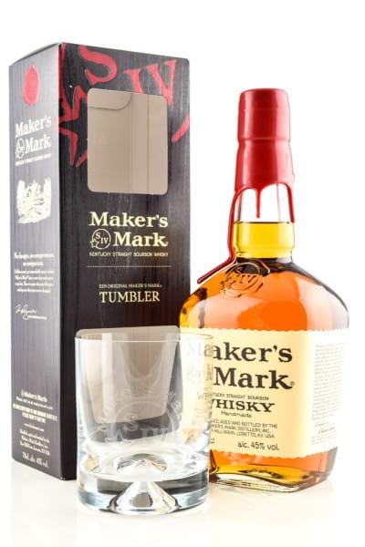 Maker's Mark Kentucky Straight 45%vol. 0,7l mit Glas