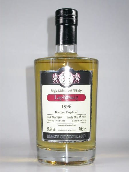 Laphroaig 1996/2010 Bourbon Barrel Malts of Scotland 57,6%vol. 0,7l