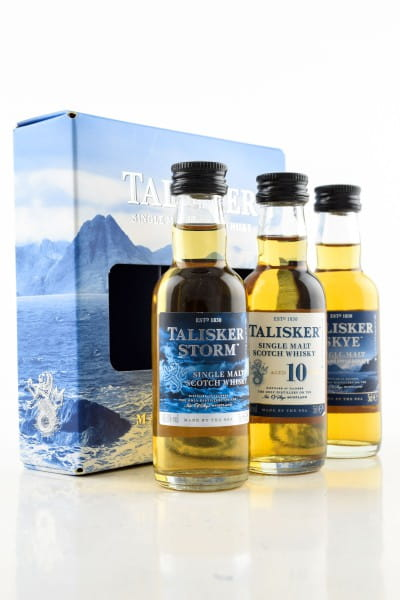 Talisker Collection (Storm, 10 Jahre, Skye) 45,8%vol. 3x 0,05l