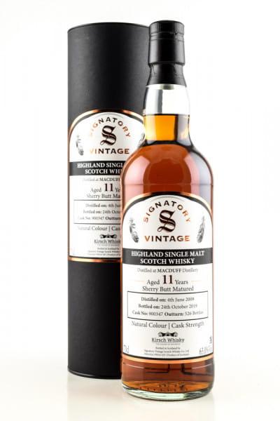 Macduff 11 Jahre 2008/2019 Sherry Butt #900347 Vintage Signatory 63%vol. 0,7l