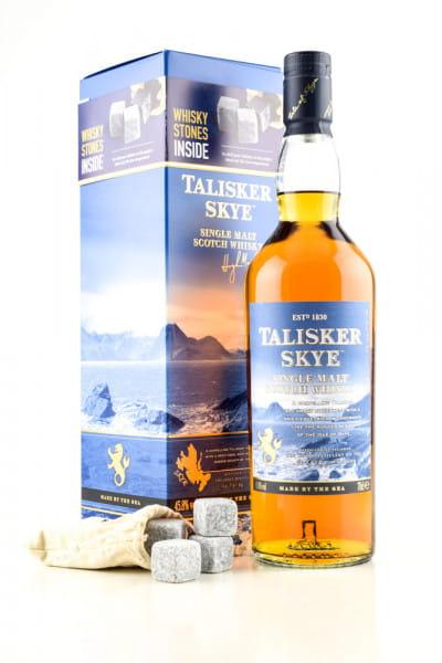 Talisker Skye 45,8%vol. 0,7l mit 4 Whisky-Steinen