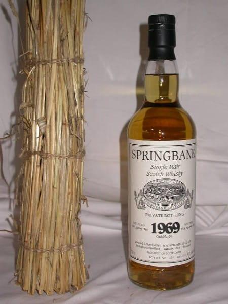Springbank 1969/2003 Private Btl. Cask No. 55 47,6%vol. 0,7l