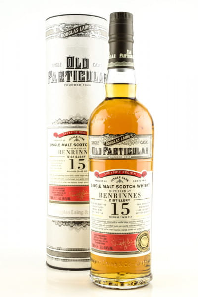 "Benrinnes 15 Jahre Sherry Butt 2004/2019 Douglas Laing ""Old Particular"" 48,4%vol. 0,7l"