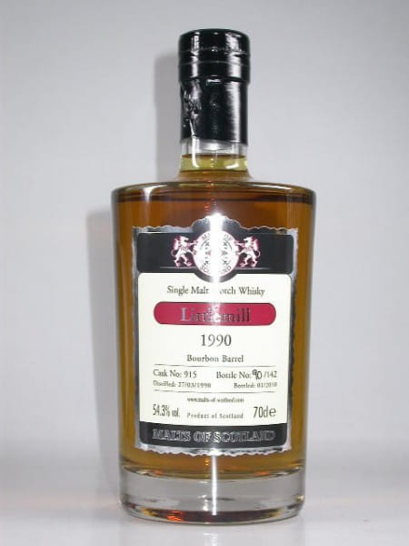 Littlemill 1990/2010 Bourbon Barrel Malts of Scotland 54,3%vol. 0,7l