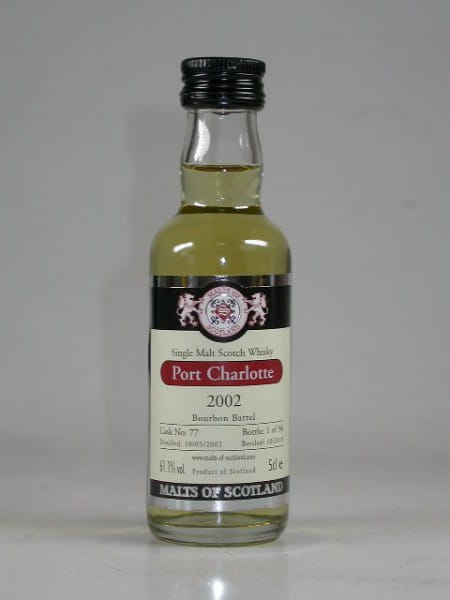 Port Charlotte 2002/2010 Bourbon Barrel Malts of Scotland 61,1%vol. 0,05l