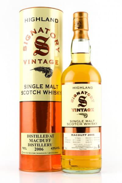 Macduff 14 Jahre 2006/2021 Bourbon Barrels #102370 & #102383 Vintage Signatory 43%vol. 0,7l