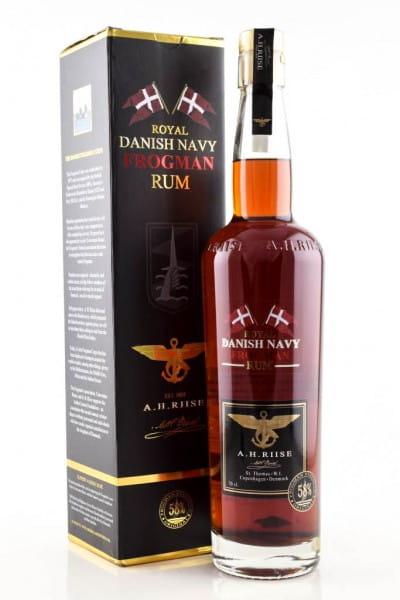 A.H. Riise Frogman Danish Navy Rum 58%vol. 0,7l