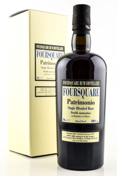 Foursquare Patrimonio Bourbon/Sherry Single Blended Rum 58%vol. 0,7l