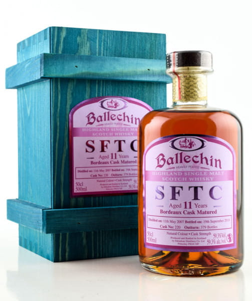 Ballechin 11 Jahre 2007/2018 SFTC Bordeaux Cask Matured #220 59,3%vol. 0,5l