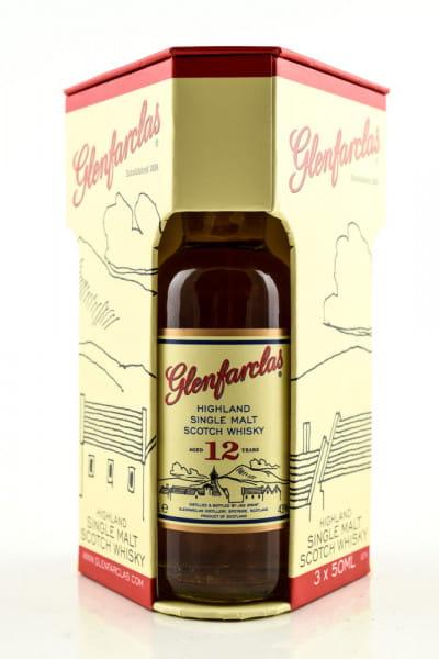 Glenfarclas Tasting-Set 10/12 Jahre & 105 Cask strength 40/43/60%vol. 3x 0,05l
