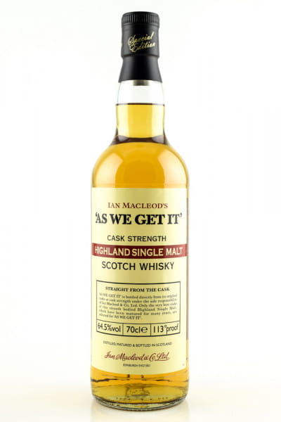 """AS WE GET IT"" Highlands Ian MacLeod 64,5%vol. 0,7l"