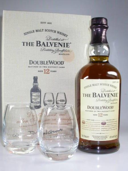 Balvenie Double Wood 12 Jahre mit 2 Gläsern 40%vol. 0,7l
