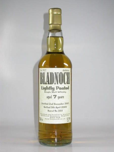Bladnoch 7 Jahre 2001/2009 Barrel No. 333 Lightly Peated 57,8%vol. 0,7l