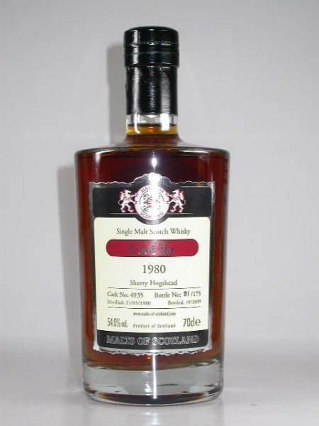 Caol Ila 1980/2009 Sherry Hogshead Malts of Scotland 54%vol. 0,7l