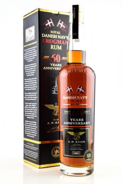 A.H. Riise Frogman 60 years Anniversary Danish Navy Rum 60%vol. 0,7l