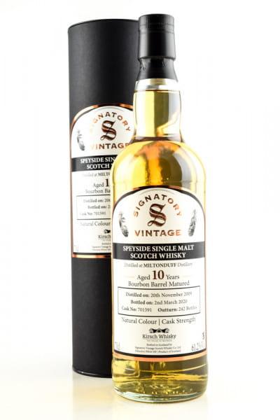Miltonduff 10 Jahre 2009/2020 Bourbon Barrel #701591 Vintage Signatory 61,2%vol. 0,7l