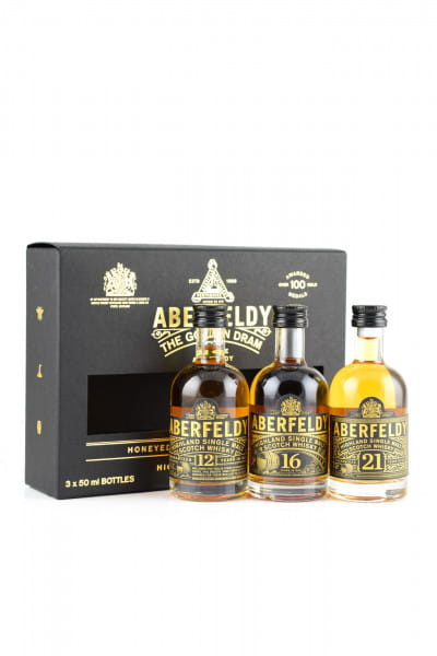 Aberfeldy - The Golden Dram 40%vol. 3x 0,05l