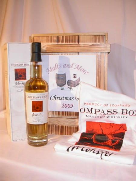 Christmas Box Compass Box Peat Monster 46%vol. 0,7l mit T-Shirt
