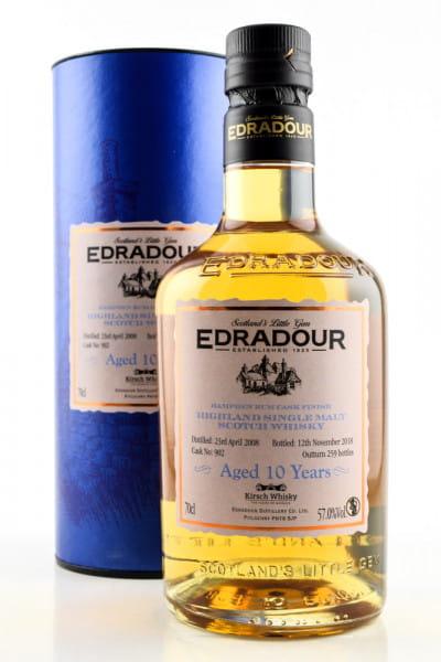 Edradour 10 Jahre 2008/2018 Hampden Rum Cask Finish 57%vol. 0,7l