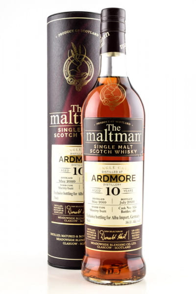 Ardmore 10 Jahre 2010/2020 Sherry Butt #1634 The Maltman 56,1%vol. 0,7l