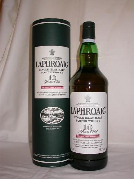 Laphroaig 10 Jahre Cask strength 55,7%vol. 1,0l